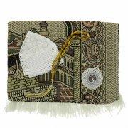 Молитвенный набор (коврик дорожный с компасом, тюбетейка, четки) арт.9616