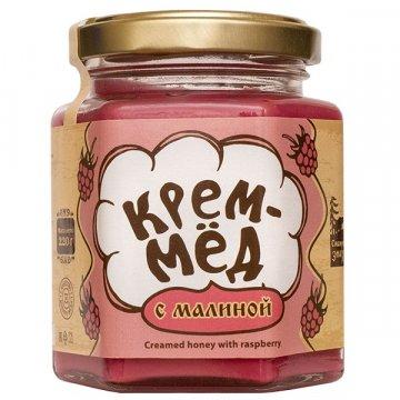 Натуральный крем-мёд с малиной