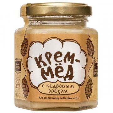 Натуральный крем-мёд с кедровым орехом