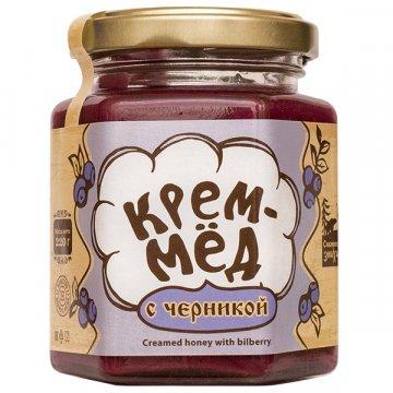 Натуральный крем-мёд с черникой