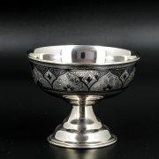 Серебряная креманка Кубачи ручной работы