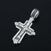 Серебряный православный крест