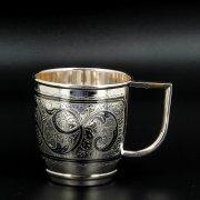 Серебряная чашка Кубачи ручной работы