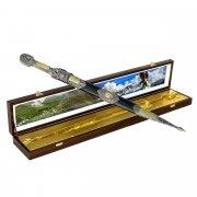 Кубачинский подарочный набор в футляре (кинжал с позолоченными вставками) арт.4149