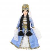 Керамическая кукла в кабардинском национальном костюме (малая)
