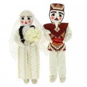 Текстильные куклы ручной работы (жених и невеста) арт.6549
