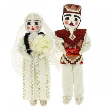 Текстильные куклы ручной работы (жених и невеста)