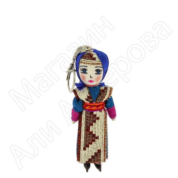 Текстильная кукла-брелок ручной работы