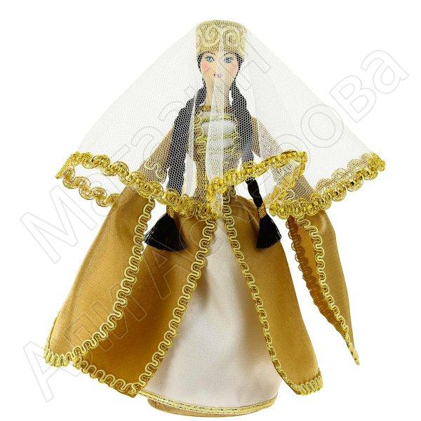 Керамическая кукла в кабардинском национальном костюме средняя