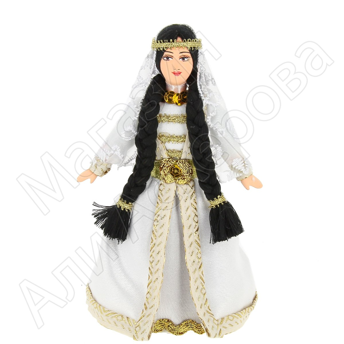 Керамическая кукла в чеченском национальном костюме (малая ...