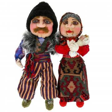 Текстильные интерьерные куклы Семья (ручная работа)