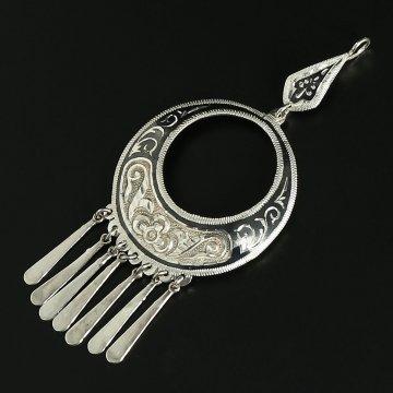 Кубачинский серебряный кулон ручной работы
