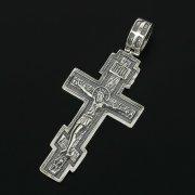 Кубачинский серебряный кулон ручной работы с гравировкой (крест) арт.11313