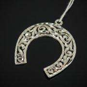 Кубачинский серебряный кулон с гравировкой ручной работы арт.7628