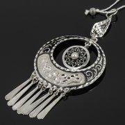 Кубачинский серебряный кулон ручной работы (камень - жемчуг) арт.7851