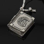 Кубачинский серебряный кулон ручной работы с гравировкой (коран) арт.7952