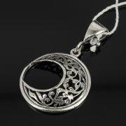 Кубачинский серебряный кулон ручной работы с гравировкой арт.7955
