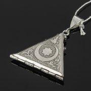Кубачинский серебряный кулон ручной работы с гравировкой арт.7960
