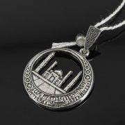 Кубачинский серебряный кулон ручной работы с гравировкой арт.7982