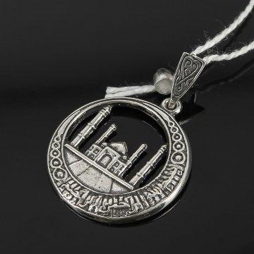 Кубачинский серебряный кулон ручной работы с гравировкой
