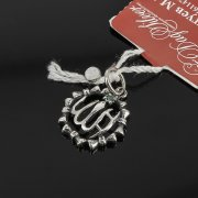 Кубачинский серебряный кулон ручной работы с гравировкой (камень - циркон) арт.7991