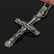 Кубачинский серебряный кулон ручной работы с гравировкой (крест) арт.7996