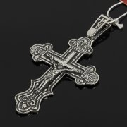 Кубачинский серебряный кулон ручной работы с гравировкой (крест)