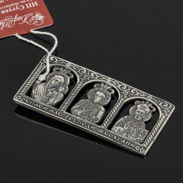Кубачинская серебряная икона ручной работы с гравировкой