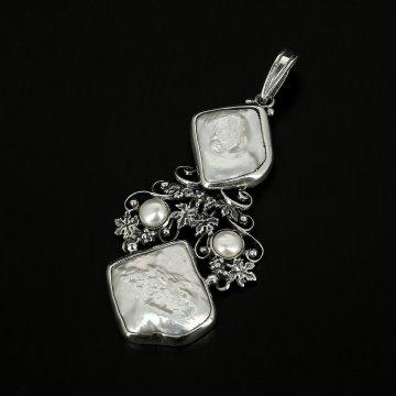 Серебряная подвеска (барочный жемчуг)