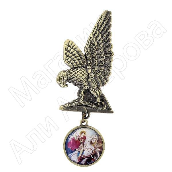 """Магнит металлический """"Орел с медальоном"""" арт.8301"""