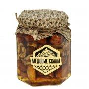 """Натуральный мёд с орехами """"Медовые скалы"""" (Дагестан) арт.9344"""