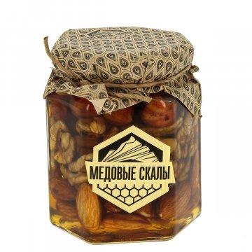 """Натуральный мёд с орехами """"Медовые скалы"""" (Дагестан)"""