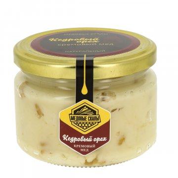"""Натуральный крем-мёд с кедровым орехом """"Медовые скалы"""" (Дагестан)"""