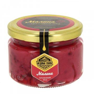 """Натуральный крем-мёд с малиной """"Медовые скалы"""" (Дагестан)"""