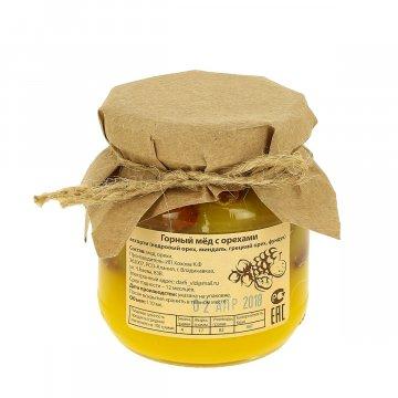 Натуральный мёд горный с орехами