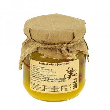 Натуральный мёд горный с фундуком