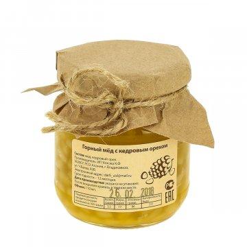 Натуральный мёд горный с кедровым орехом