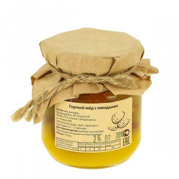 Натуральный мёд горный с миндалем