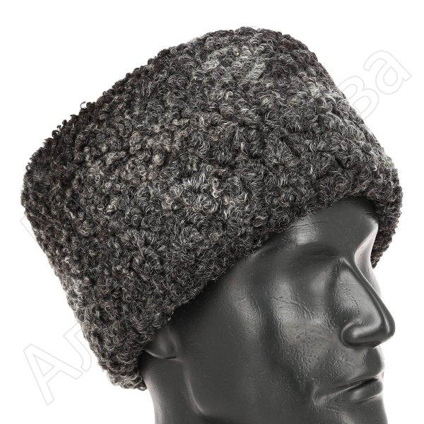 Мужская каракулевая папаха (сорт - валек) арт.11975
