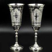 Серебряные фужеры Кубачи ручной работы (2 персоны) арт.8635