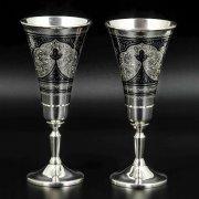 Серебряные рюмки Кубачи ручной работы (2 персоны) арт.8694