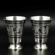 Серебряные стаканы Кубачи ручной работы (2 персоны) арт.8686