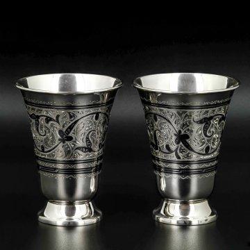 Серебряные стаканы Кубачи ручной работы (2 персоны)