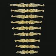 Нагрудники латунные (9 элементов) арт.12080