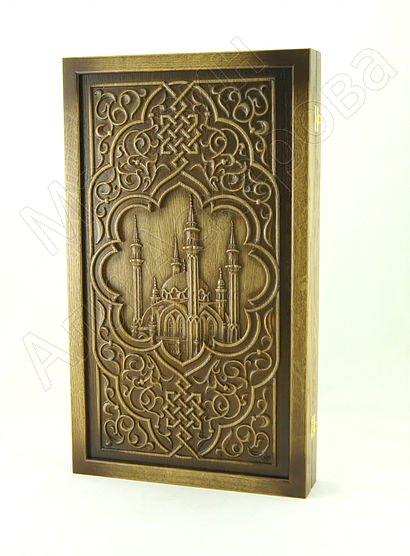 Нарды резные ручной работы Мечеть Кул-Шариф (бук)