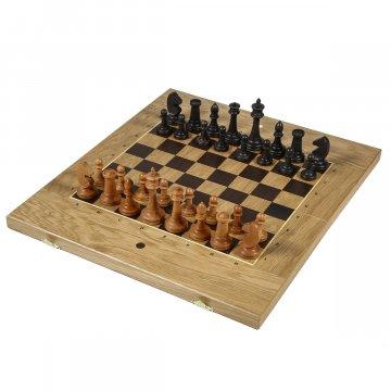 Нарды-шахматы резные ручной работы 3 в 1 (дуб)