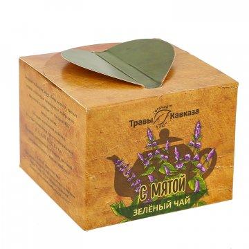 Натуральный зеленый чай с мятой