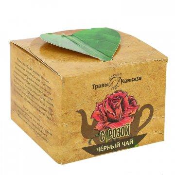 Натуральный черный чай с розой