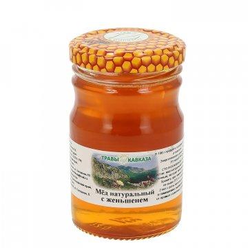Натуральный мёд цветочный с женьшенем