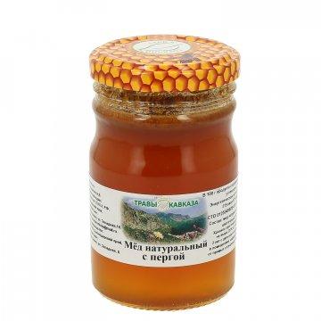 Натуральный мёд цветочный с пергой